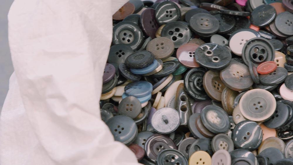Botões usados para reciclagem